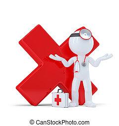 醫生, 由于, 紅色, 有光澤, 复選標記