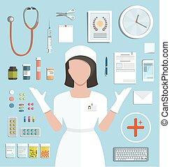 醫生, 由于, 藥丸, 藥物療法, 瓶子