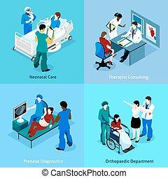 醫生, 病人, 等量, 圖象, 集合