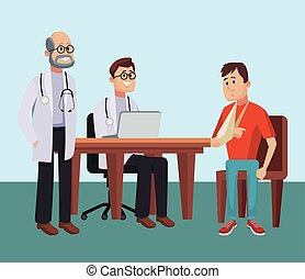 醫生, 辦公室, 卡通