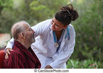 醫生, 關懷, 病人