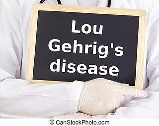 醫生, information:, 疾病, gehrig's, lou, 顯示