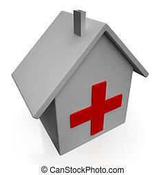 醫院, 圖象, 顯示, 緊急事件, 醫學的診所