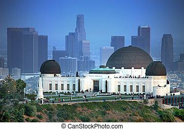 里程碑, griffith天文台, 在中, 洛杉矶, 加利福尼亚