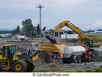 重い義務, 仕事場, 装置, 建設