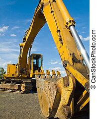 重い義務, 建設用機器, 駐車される, ∥において∥, worksite