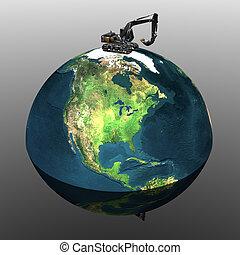 重い, 地球, 掘削機