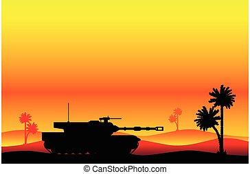 重い, 現代, タンク, 砂漠