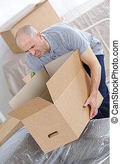 重い, 箱, 保有物, 人