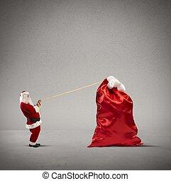 重い, 袋, 贈り物