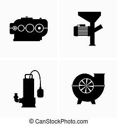 重い, 装置, 装置, 機械類, 産業