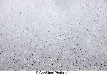 重い, 雨滴, 外, 窓, 雨