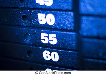 重量訓練, 機器, 在, 健身, 體操