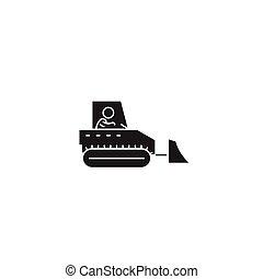 重, 控制, 概念, 描述, 套间, 签署, 矢量, 黑色, 机械, icon.