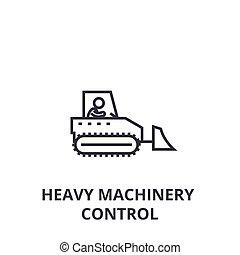 重, 控制, 线性, 概念, 符号, 签署, 矢量, 机械, illustation, 图标, 线, 稀薄