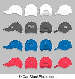 野球帽, セット