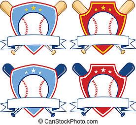 野球, セット, 旗, コレクション, 2