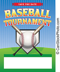 野球, トーナメント, イラスト