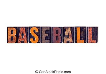 野球, 概念, タイプ, 隔離された, 凸版印刷