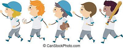 野球, 歩きなさい