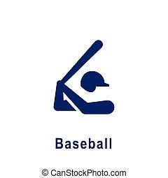 野球, icon., スポーツ, pictogram, 新しい