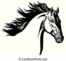 野生の 馬, 頭