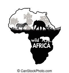野生, ポスター, アフリカ