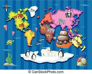 野生 動物, 中に, 別, 別れなさい, 世界