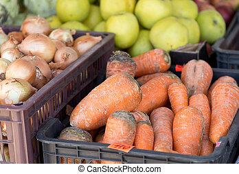 野菜, ∥において∥, a, 市場