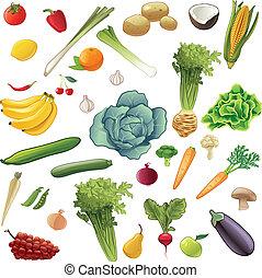 野菜, セット, 成果