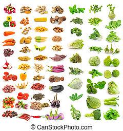 野菜, ハーブ, スパイス, 隔離された, 白, 背景