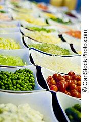 野菜, バー, サラダ