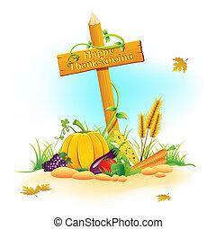 野菜, フルーツ, 感謝祭