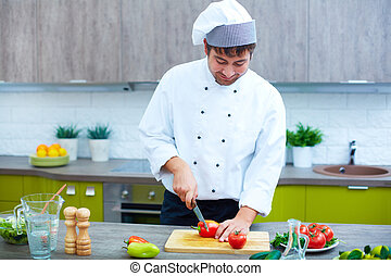 野菜, 作成, サラダ