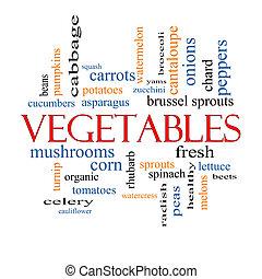 野菜, 単語, 雲, 概念