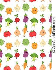 野菜, 幸せ, かわいい, 微笑, コレクション, 未加工