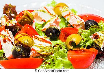 野菜, 新たに, サラダ