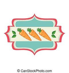 野菜, 新たに, プロダクト, シール