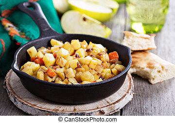野菜, 根, ハッシュ料理, アップル