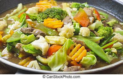 野菜, 皿