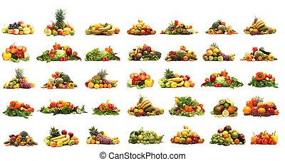 野菜, 隔離された, 白