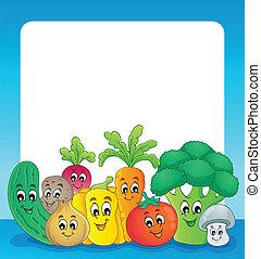 野菜, 1, 主題, フレーム