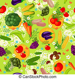 野菜, seamless, 手ざわり