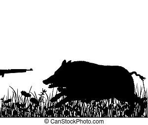 野豬, 打獵