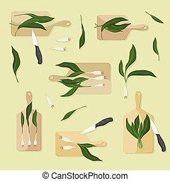 野, 大蒜, 切割