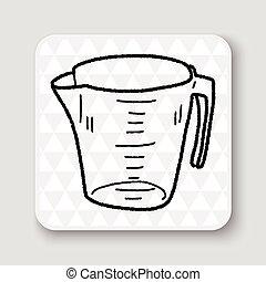 量杯, 心不在焉地亂寫亂畫
