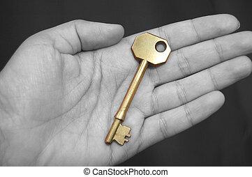金のキー, 手