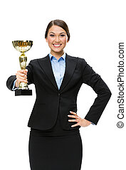 金のコップ, マネージャー, 女性, 肖像画, 半分長さ