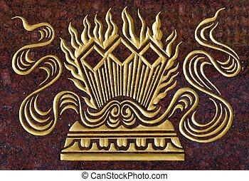 金の壁, 大理石, ペンキ, 切り分けなさい, 寺院