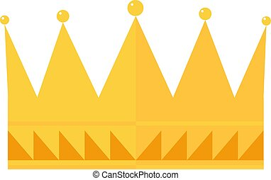 金の王冠, 白, バックグラウンド。, ベクトル, イラスト